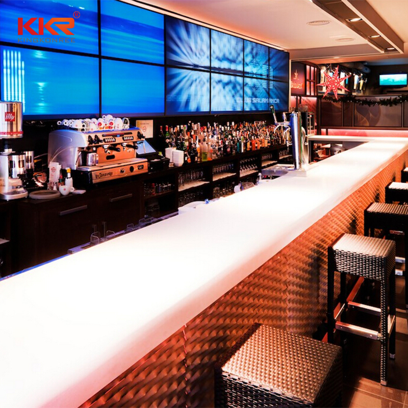 KKR Stone surface wall mounted bar countertop-1