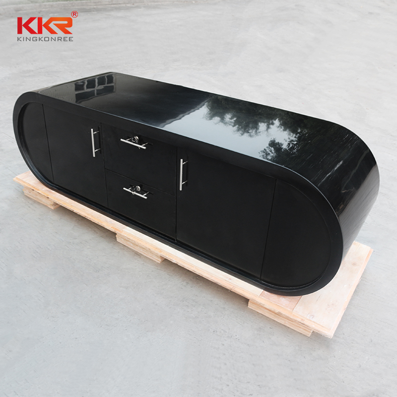 pure acrylic solid surface reception desk arcylic for home-1