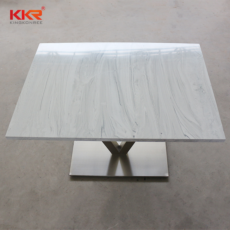 KKR Stone surface artificial marble dining table-2