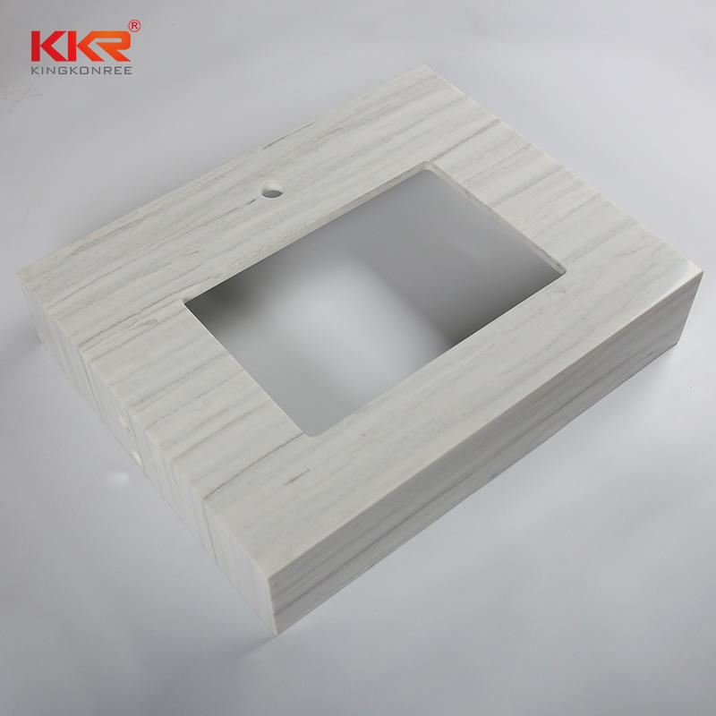 Texture Pattern Artificial Marble Solid Surface Bathroom Vanity Top - Solid Surface Bathroom Countertop 02