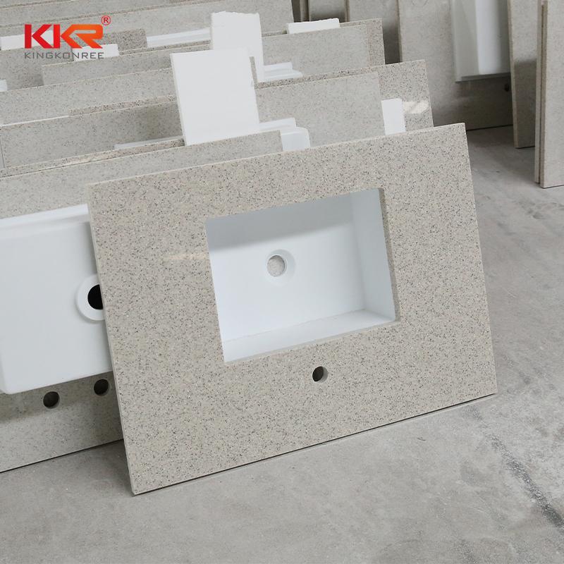 KKR Stone single bathroom vanity tops in-green for kitchen tops-2