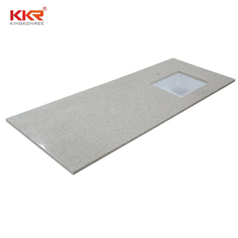 Customized Dimensions Solid Surface Bathroom Countertop With Undermount Basin Bathroom-Countertop-04