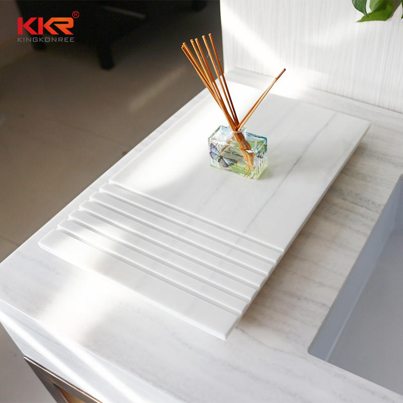 Marble Pattern Solid Surface Bathroom Tray TRAY 01
