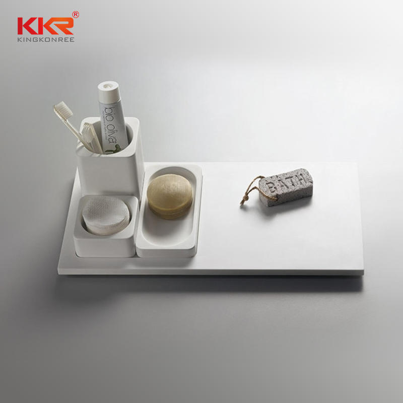 Artificial Stone Acrylic Solid Surface Bathroom Tray - TRAY 03