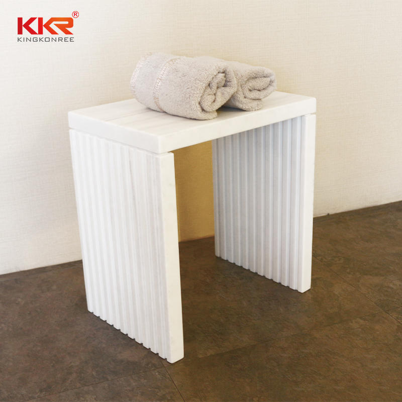 Texture Marble Pattern Solid Surface Stool KKR-Stool-N-A