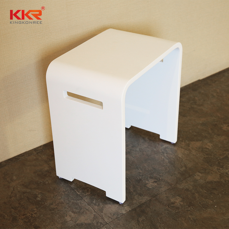 KKR Stone solid Surface metal bathroom shelf in different shape for home-2