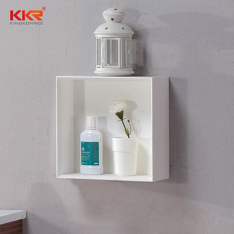 double Sink acrylic corner shelf supply for living room KKR Stone-1
