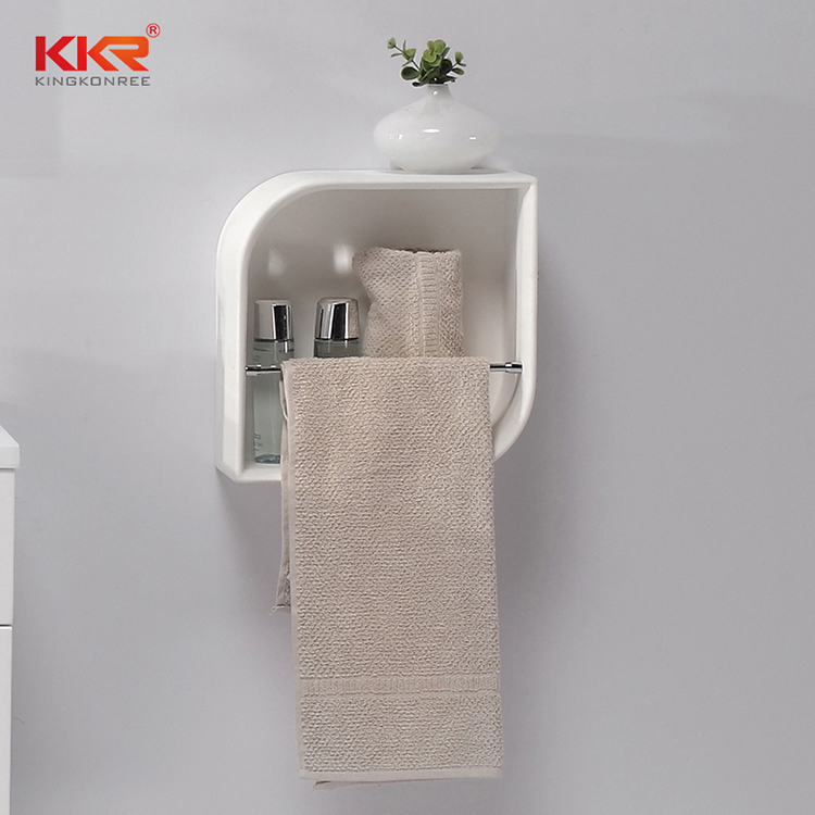 KKR Stone solid Surface acrylic bathroom shelf inquire now for home-2