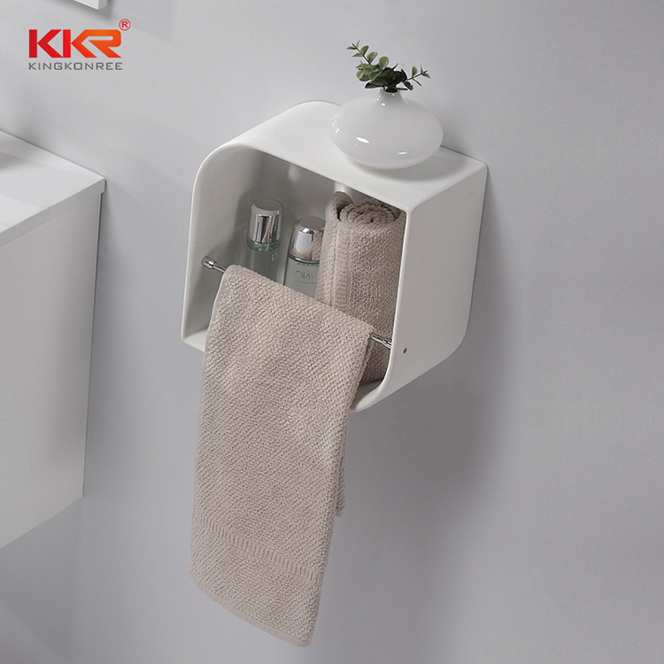KKR Stone pattern bathroom wall shelves check now for home-1