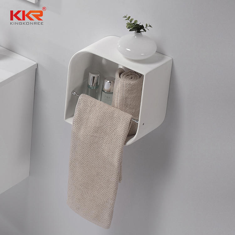 Unique Design Acrylic Solid Surface Bathroom Shelf KKR-1072