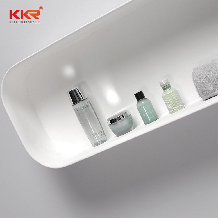 double Sink acrylic bathroom tray check now for home KKR Stone-1