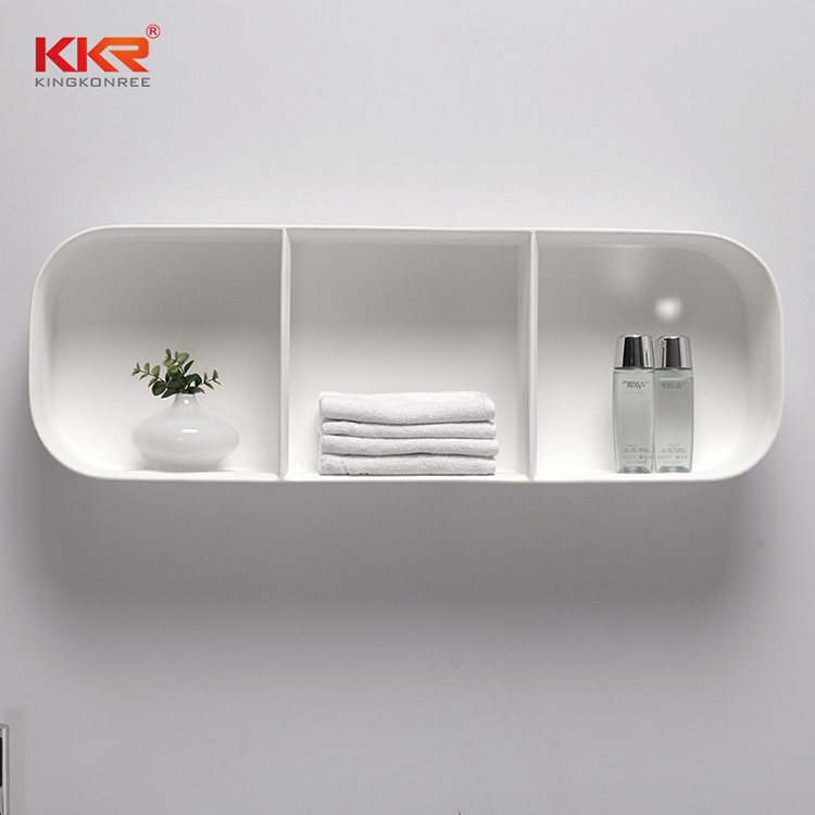KKR Stone pattern acrylic wall shelf inquire now for hotel-1