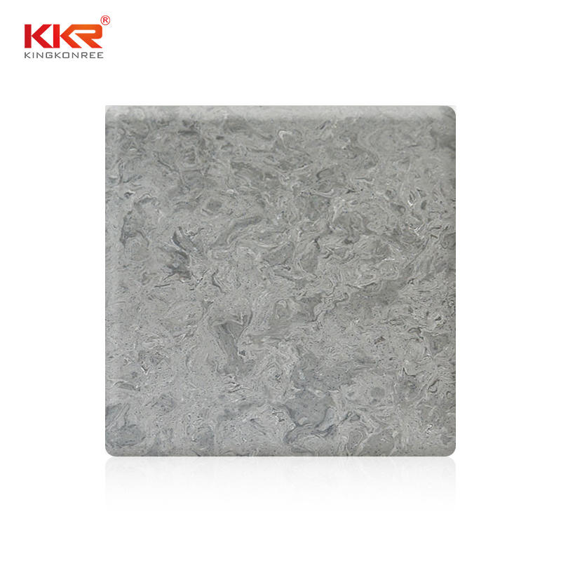 2440mm Length Acrylic Stone Marble Pattern Solid Surface Sheet KKR-M5803