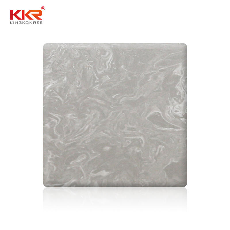 Artificial Stone Marble Pattern Solid Surface Sheets KKR-M5807