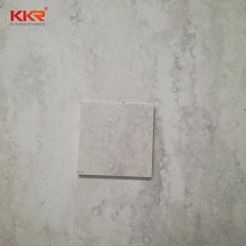 3050mm Length Artificial Stone Texture Marble Pattern Solid Surface Sheets KKR-M6801