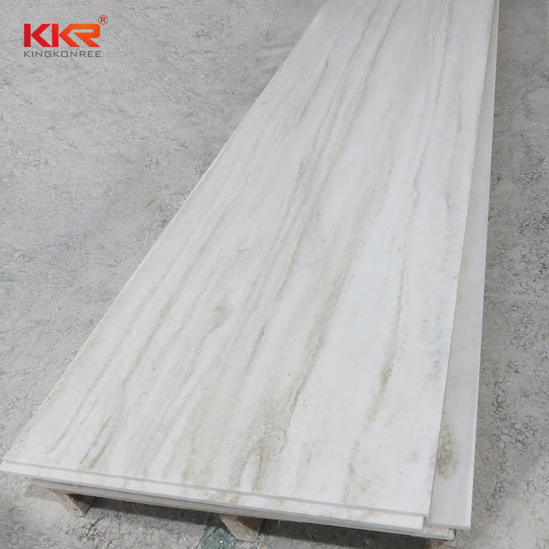 12MM Thickness Texture Marble Color Solid Surface Acrylic Stone Sheet KKK-M6802