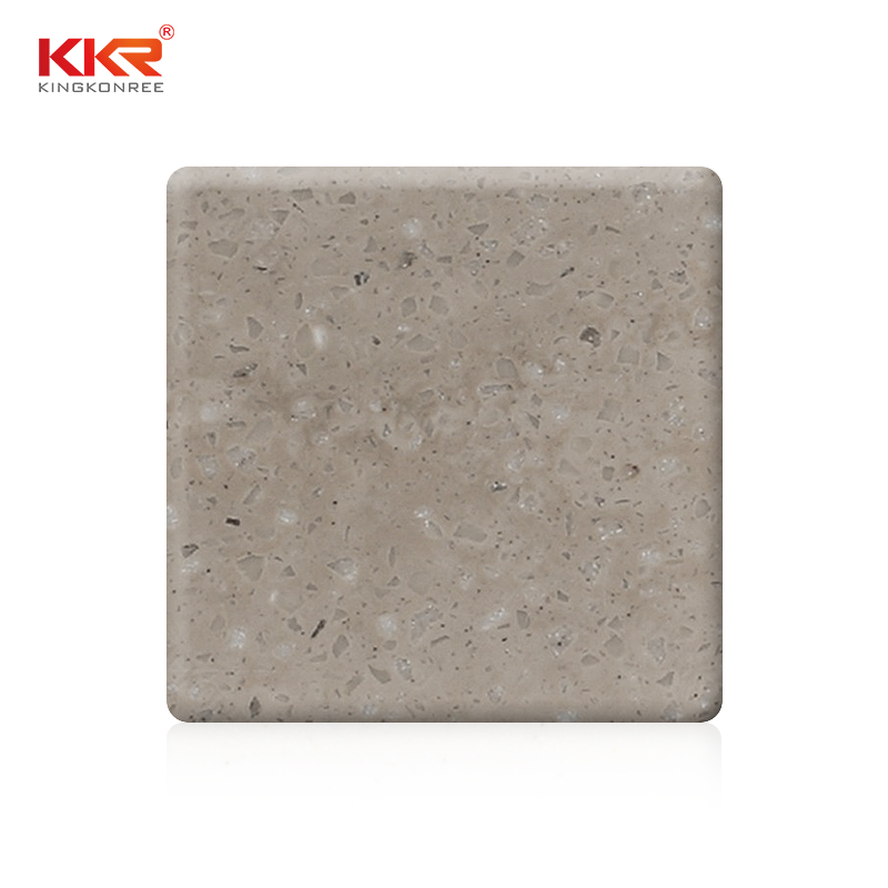 KKR Stone black solid surface slab for home-1