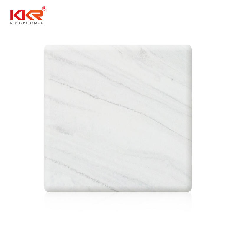 White Marble Black Texture Pattern Solid Surface Sheet KKR-M6805