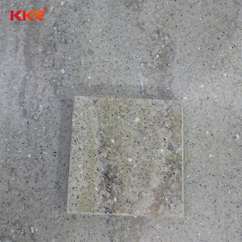 144 Inch Acrylic Marble Stone Texture Solid Surface Slabs KKR-M6809