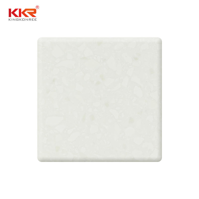 Antarctica Color White Acrylic Solid Surface Sheet With Grains KKR-M1651