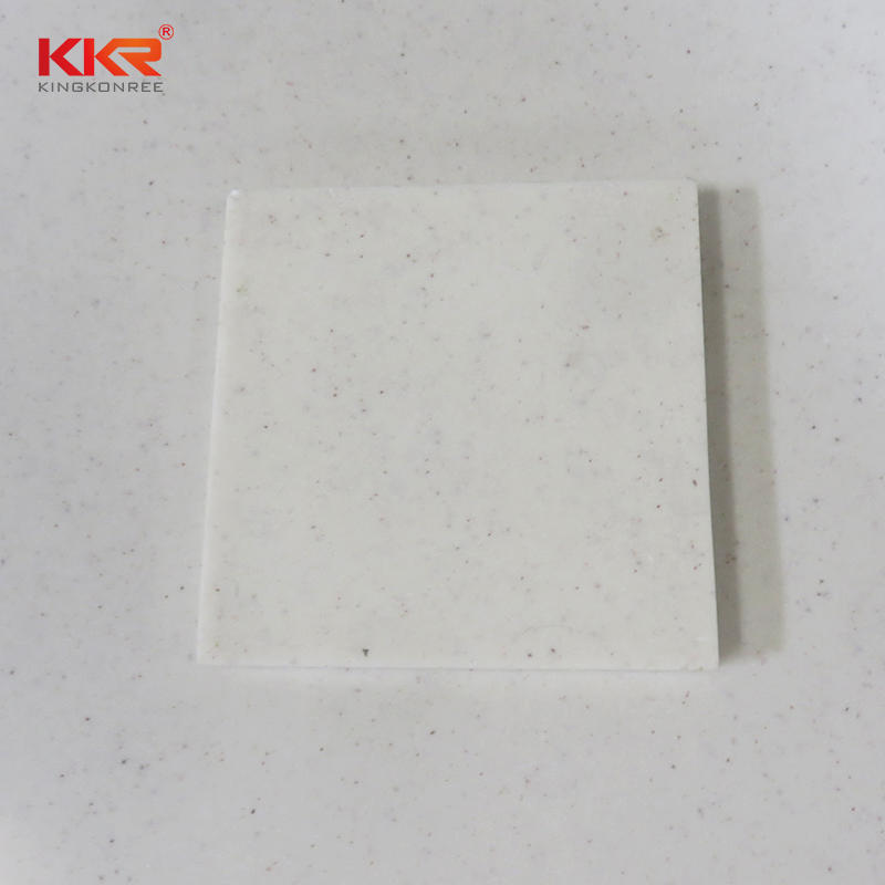 120 Inch Length Modified Acrylic Solid Surface Sheet With Small Chips KKR-M1653
