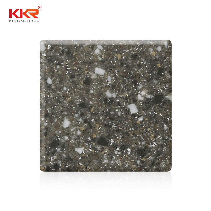 Brown Particles Modified Acrylic Solid Surface Sheets KKR-M1667