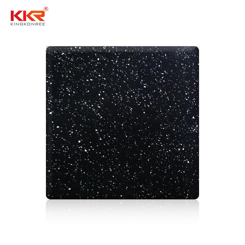 Sparkle Granules Acrylic Resin Stone Solid Surface Sheets KKR-M1673