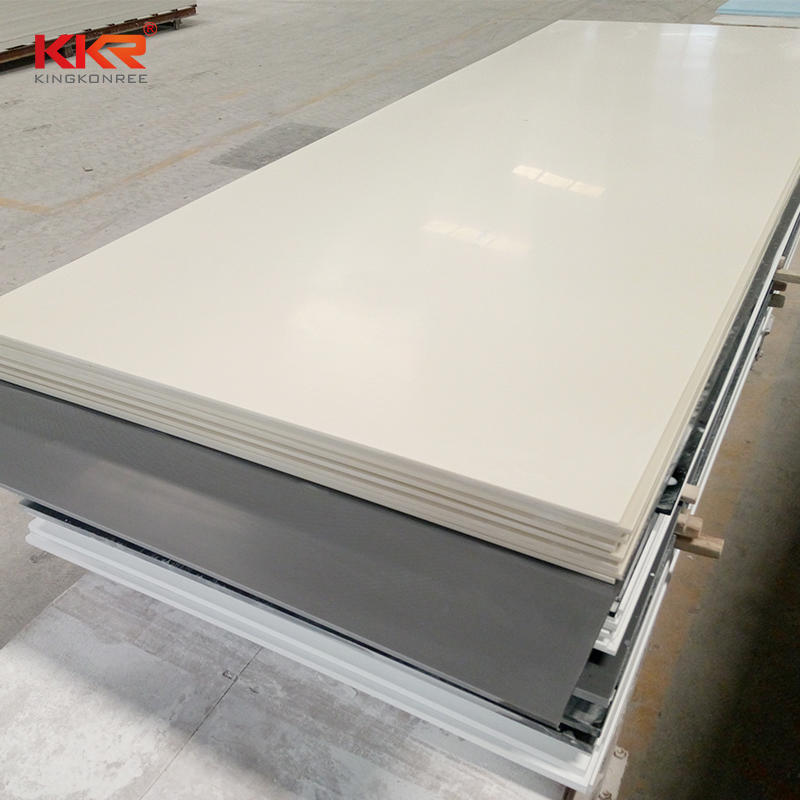 Bone Color 12mm Thickness Artificial Stone Solid Surface Sheets KKR-M1679