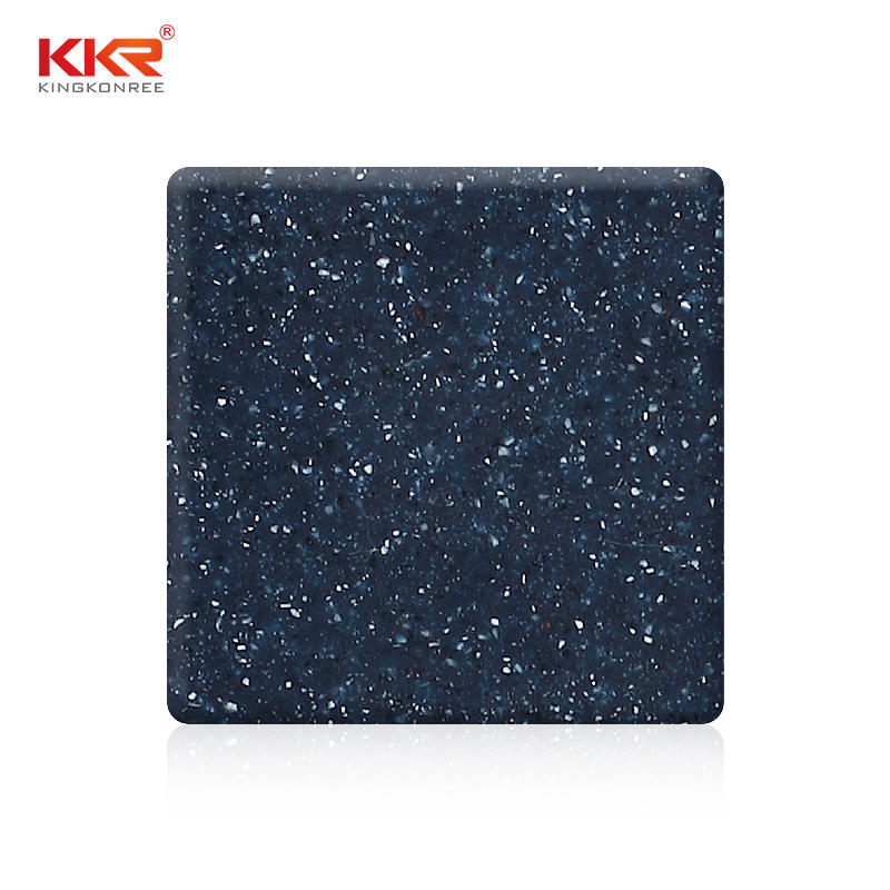 Blue Color With White Particle Acrylic Stone Solid Surface Sheet KKR-M1680