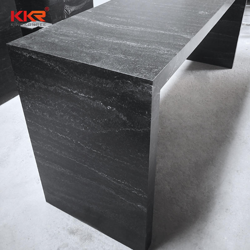 Texture marble pattern solid surface modern bar counter top