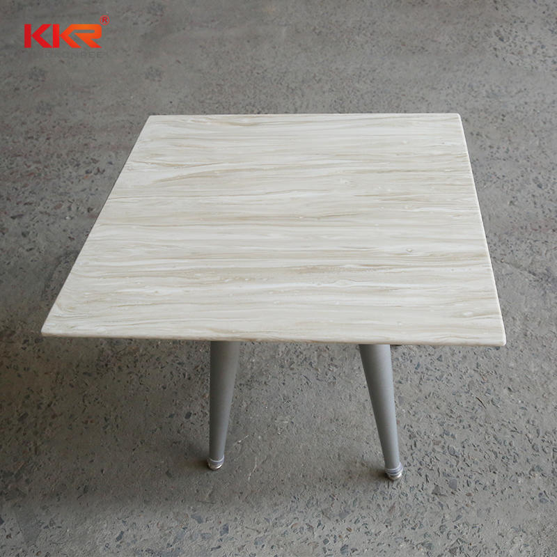 Fashion solid surface composite marble top dining table luxury dining table for furniture