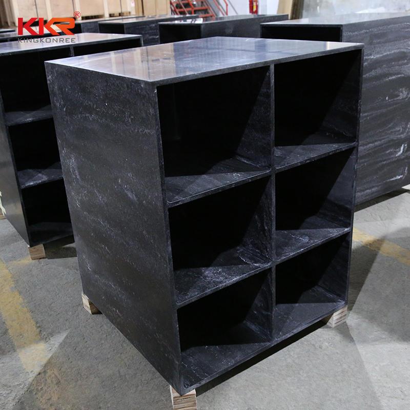 KKR Stone acrylic shelving unit factory for living room