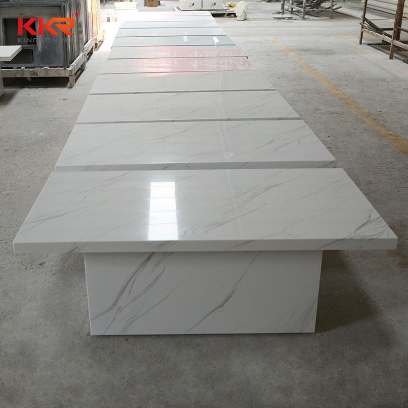 Home and Hotel furniture white marble top solid surface side table end table