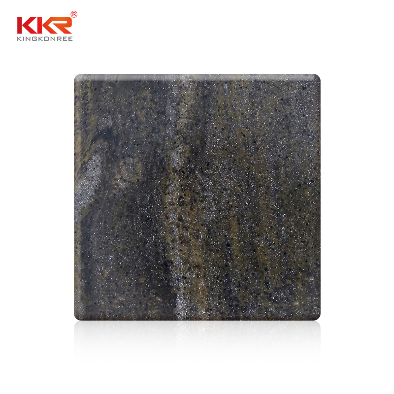 KKR Stone pollution free veining pattern solid surface  manufacturer for bar table-1