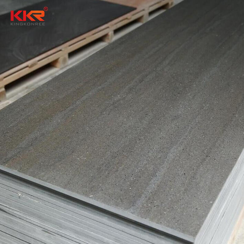 Stain resistant 100% texture acrylic corians solid surface sheets for kitchen countertop KKR-M8846