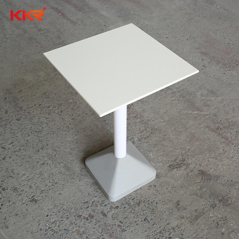New design mini solid surface base / steel nest low tea coffee tables