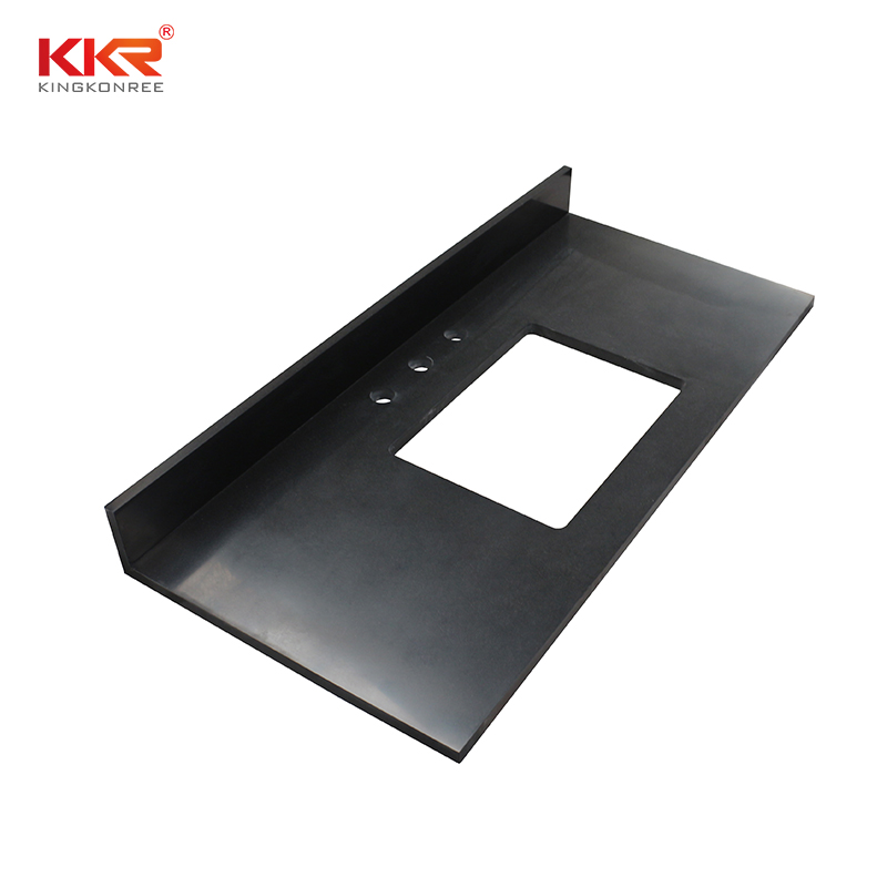 KKR Stone solid bathroom vanity tops China for home-2
