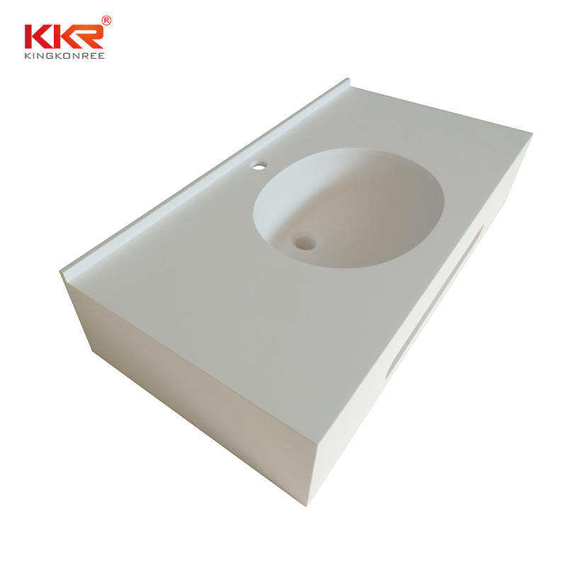 Top Quality Solid Surface Bathroom Cabinet Vanity Top / Vanity Basin