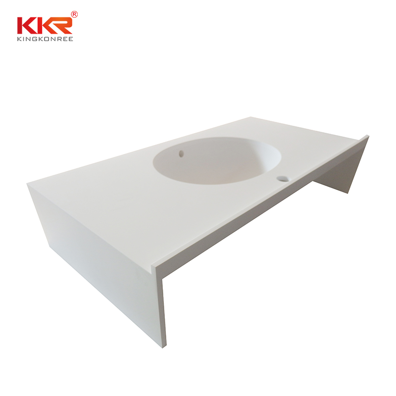 artificial solid surface bathroom countertops beige long-term-use for table tops-2
