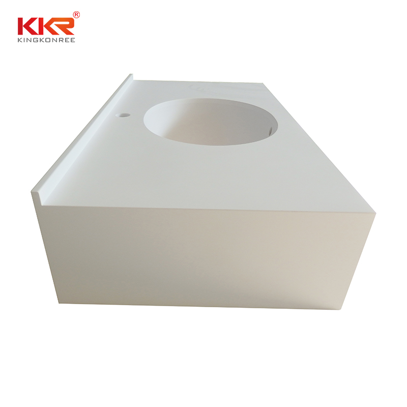 design acrylic solid surface countertops widely-use for school building KKR Stone-2