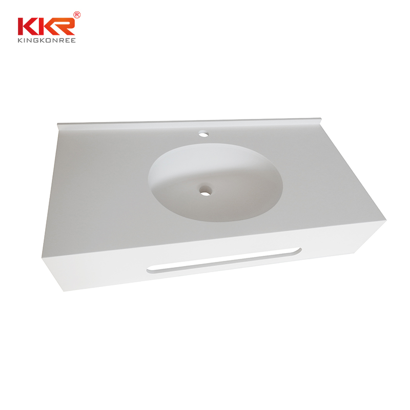 design acrylic solid surface countertops widely-use for school building KKR Stone-1