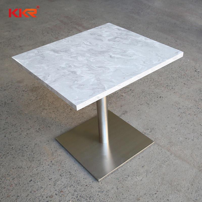 KKR Restaurant Modern Luxury Square / Round White Marble Table Top