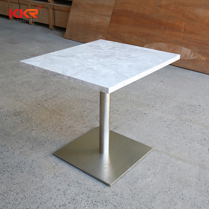 KKR Restaurant Modern Luxury Square / Round White Marble Table Top