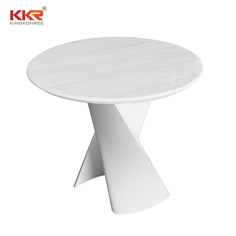 KKR Living Room Furniture Modern Special Design Stone Leg Solid Surface Dining Table