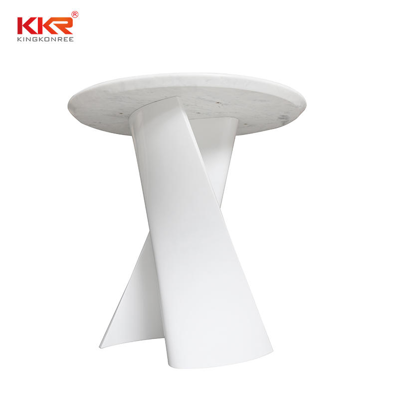 KKR Living Room Furniture Modern Special Design Stone Leg Solid Surface Dining Table