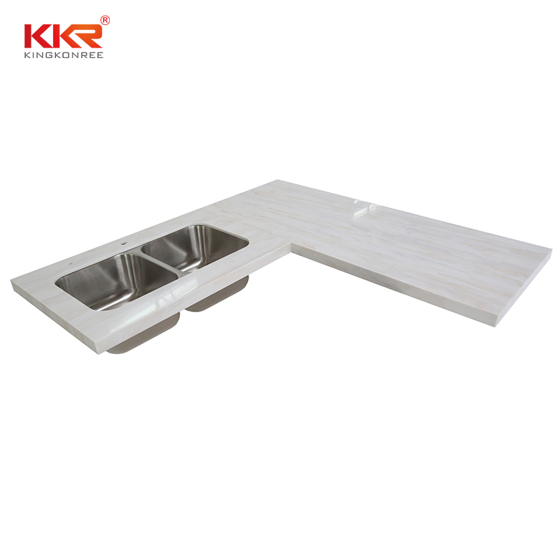 KKR Stone durable kitchen quartz countertops  manufacturer for shoolbuilding-2
