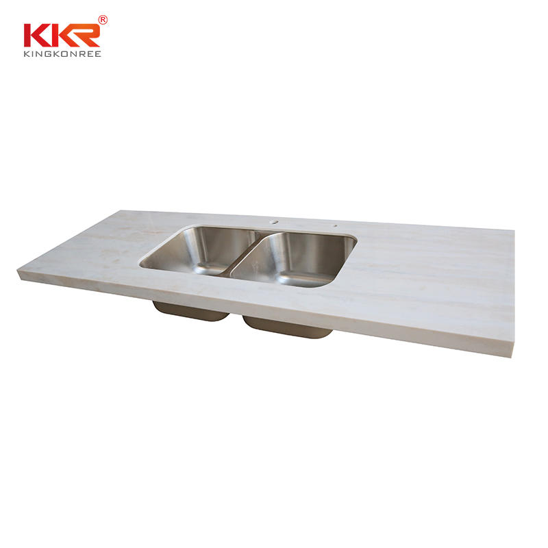 KKR Stone durable kitchen quartz countertops  manufacturer for shoolbuilding