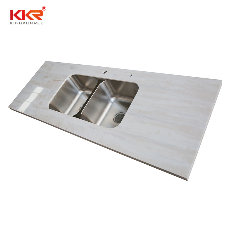 KKR Stone durable kitchen quartz countertops  manufacturer for shoolbuilding-1