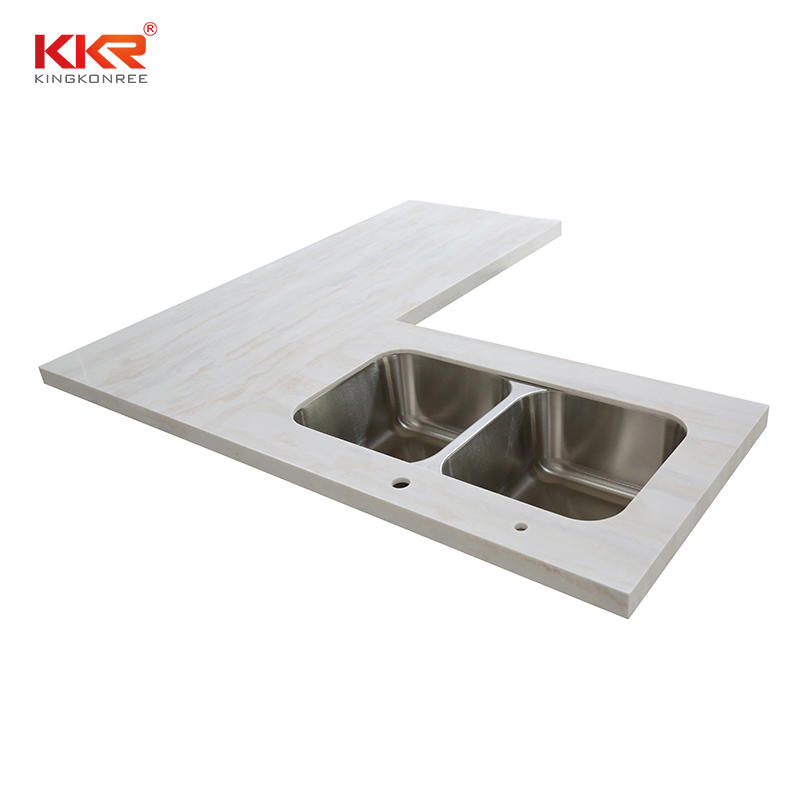Cut-to-Size Kitchen Solid Surface Artificial Stone Kitchen Countertop