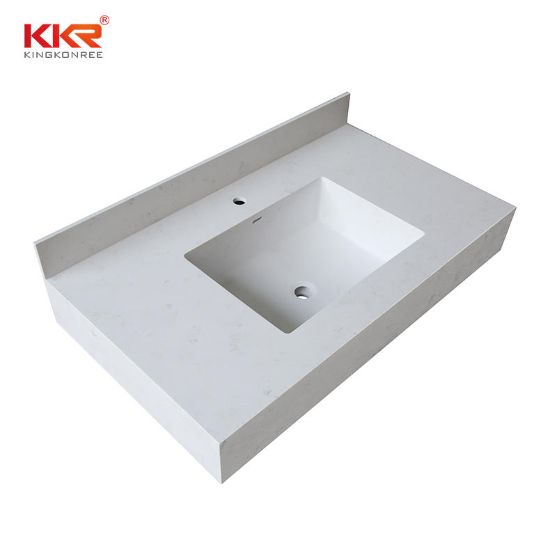 Modern 60 inch bathroom cabinet vanity sink acrylic wall hung solid surface vanity basin